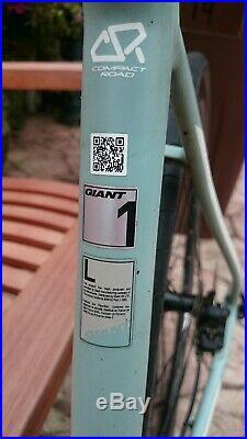 2019 Giant Contend SL 1 Disc Brake Road Bike Shimano 105 Grey/Green Large