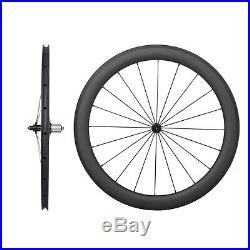 23 Wide 55mm Carbon Tubeless Clincher Wheelset 700C Road Bike Powerway Hub