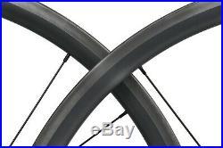 30mm Black Matt Carbon Clincher Tubeless Wheelset Bend J 700C Road Bike