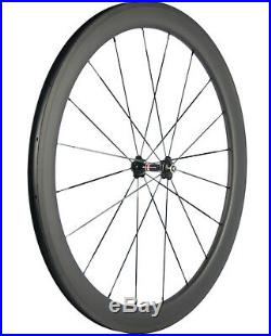 50mm Clincher Carbon Wheels Road Bike Front+Rear Clincher 23mm Bicycle Wheelset