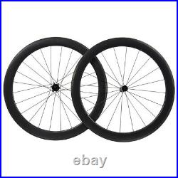 55mm Carbon Wheelset 700C Rim Brake Road bicycle wheels Clincher Tubeless Race