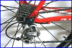 56cm Specialized Allez Elite Road Racing Bike Shimano 105 Carbon Forks Large Red