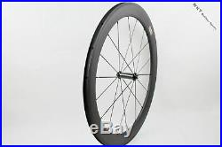 60mm R36 Clincher carbon bicycle road bike wheels cycling wheelset 18 21 holes