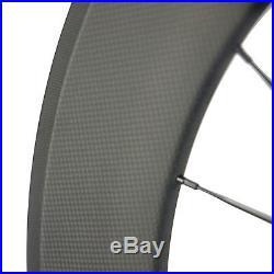 700C Clincher Carbon Road Bike Wheelset 271 Hub Carbon Wheels Basalt Brake Line