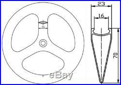 70mm Carbon Fiber Tri Spoke Wheelset Road/Track Bike Front+Rear Carbon Wheelset