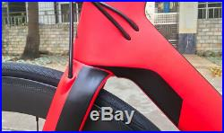 Aero Disc Brake Complete Road Bike Carbon Bicycle frame wheel Shimano R8020group