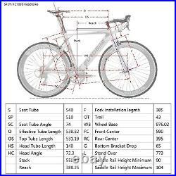 Aluminium Road Bike Shimano 14 Speed Mens Racing Bicycle 700C 54cm Frame Bikes