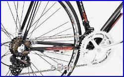 Ammaco Xrs650 Mens Alloy Racing Road Bike Shimano 14 Speed Frame 59cm Black/red