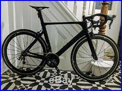 Awesome Matte Black Full Carbon Aero Road Bike 56cm Shimano ultegra 105 groupset