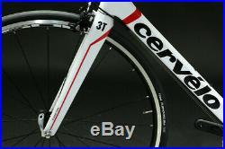 Cervelo RS Carbon Road Bike 58cm SRAM Rival 10s Shimano R500 Rim White 2011 NEW