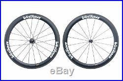 FSA Vision Metron 55 SL Road Bike Wheel Set 700c Carbon Tubular Shimano 11 Speed