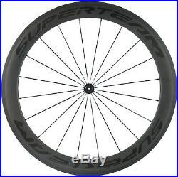 Front 60mm Rear 88mm Clincher Wheels Road Bike Carbon Wheelset 700C Cycling Race