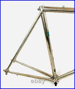 Fuji Titanium Road Bike Frameset Dura Ace Headset Ti Fork Vintage Made In Japan