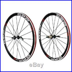 GRP AERO 40mm Road Bike Shimano 700c 11 Speed Wheelset Black