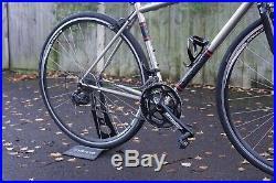 Genesis Equilibrium Stainless Steel Road Bike Shimano 105 Carbon Forks