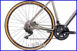 Gravel Bike 28 Zoll Unisex Fahrrad CHRISSON GRAVEL ROAD TWO 22G SHIMANO 105 grau