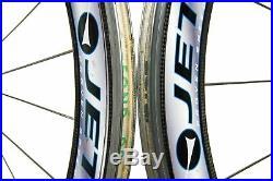 HED Jet 60 Road Bike Wheel Set 700c Carbon Clincher Shimano 10 Speed
