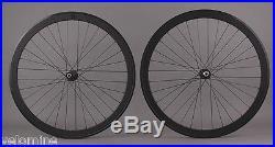 H Plus Son SL42 Black Road Bike Aero Wheelset Shimano 105 5800 Hubs 8-11 Speed