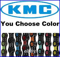 KMC DLC11 ASSORTD COLORS 11 Speed Road Bike Chain fit SRAM Shimano Campy X11SL