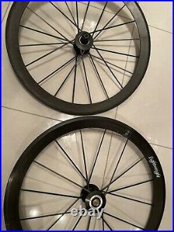 Lightweight Meilenstein Road Bike Wheelset Carbon Shimano 11 Speed Clinchers