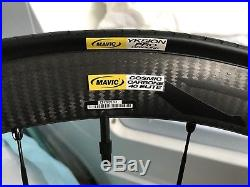 2e8eb6ab690 Mavic Cosmic Carbone 40 Elite carbon road racing bike wheels Clincher  Shimano