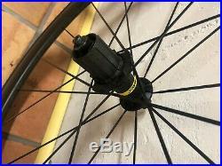 Mavic Cosmic Pro Carbon UST Wheelset Tires Shimano Tubeless Clincher Triathlon