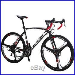 Mens womens road bike Shimano 21 speed bicyle disc brake 700c wheels 49cm