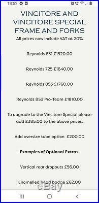 Mercian Vincitore Special Reynolds 853 Campagnolo Shimano 600 Dura Ace Brooks