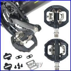 Mountain Bike Flat Dual Clipless Pedals Spd Cleats Mtb Pedal Shimano Compatible