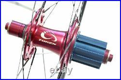 NEW TOKEN T5 85mm Full Carbon Aero Tubular Road Wheelset Fits Sram or Shimano