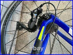 Planet X EC130E carbon road bike XLarge racing blue aero used shimano 105