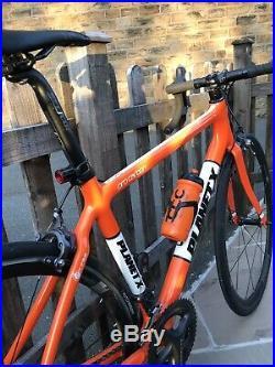 Planet X Pro Carbon Road Bike 6800 Shimano Ultegra Rare Orange