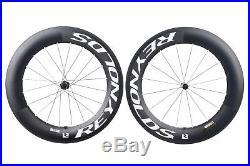 Reynolds 90 Aero Road Bike Wheel Set 700c Carbon Clincher Shimano 11 Speed