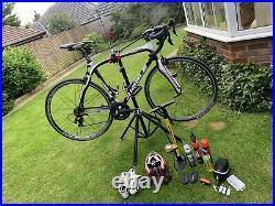 Ribble Gran Fondo Carbon Road Bike M Shimano 105, ITM Full Carbon Stem, bars, post