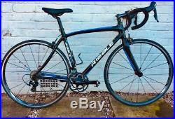 Ribble Sportive Azzurro Carbon Road Bike M (52cm) Gloss Black Blue Shimano 105