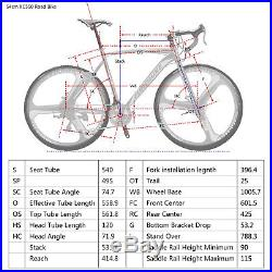 Road Bike 700C Wheels Racing Mens Bikes Shimano 21 SPeed Disc Brake Bicycle 54cm