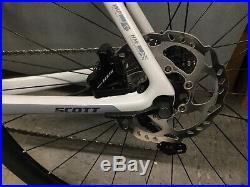 SCOTT ADDICT 20 DISC Series SA CARBON ROAD BIKE Shimano Brakes Look Pedals EUC