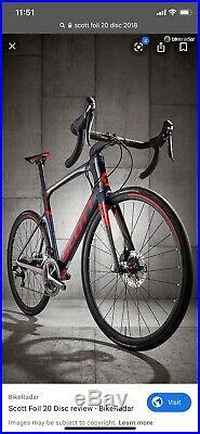 Scott Foil Disc 20 Shimano Ultegra 56cm Large Carbon Aero Road Bike BNIB