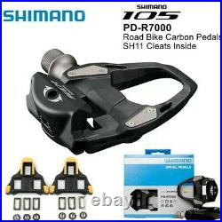 Shimano 105 Pd R7000 Spd Sl Carbon Road Bike Clipless Pedals Genuine Black