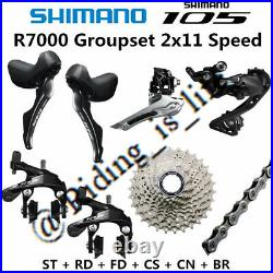 Shimano 105 R7000 2x11 Road Bike Groupset 11-25T/28T/30T/32T/34T WithO B. B&Crank