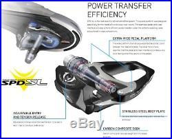 NIB Black Shimano Dura Ace PD-R9100 SPD-SL Carbon Racing Pedals
