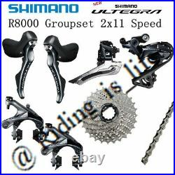 Shimano Ultegra R8000 2X11-Speed Road Groupset 11-25T/28T/30T/32T WithO Crank&B. B