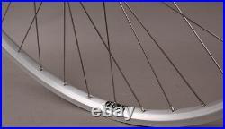 Silver Heavy Duty Velocity NoBS 700c Bike Wheels Shimano 36h Spokes Road Spacing