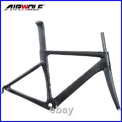 T1000 Carbon Road Bike Frame 700C Bicycle Frameset 48 51 54 56cm BSA V Brake