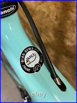 TOP! BIANCHI SEMPRE CELESTE CARBON RENNRAD REPARTO CORSE Shimano 105 Roadbike