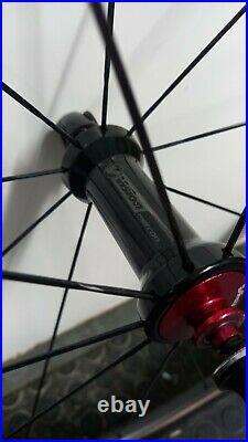 Vision Metron 40 LTD carbon wheelset Shimano 11 speed, set up tubeless