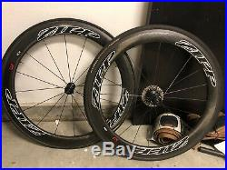 Zipp 404 Firecrest Tubular Wheelset 700C 11 Speed Shimano/Sram tires/cassette