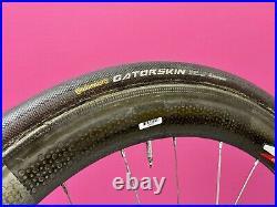 Zipp 404 Tubular Carbon Road Bike Wheelset Shimano 10 Speed Continental Tires
